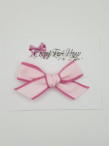 Emmy- Pink Ribbon Bow