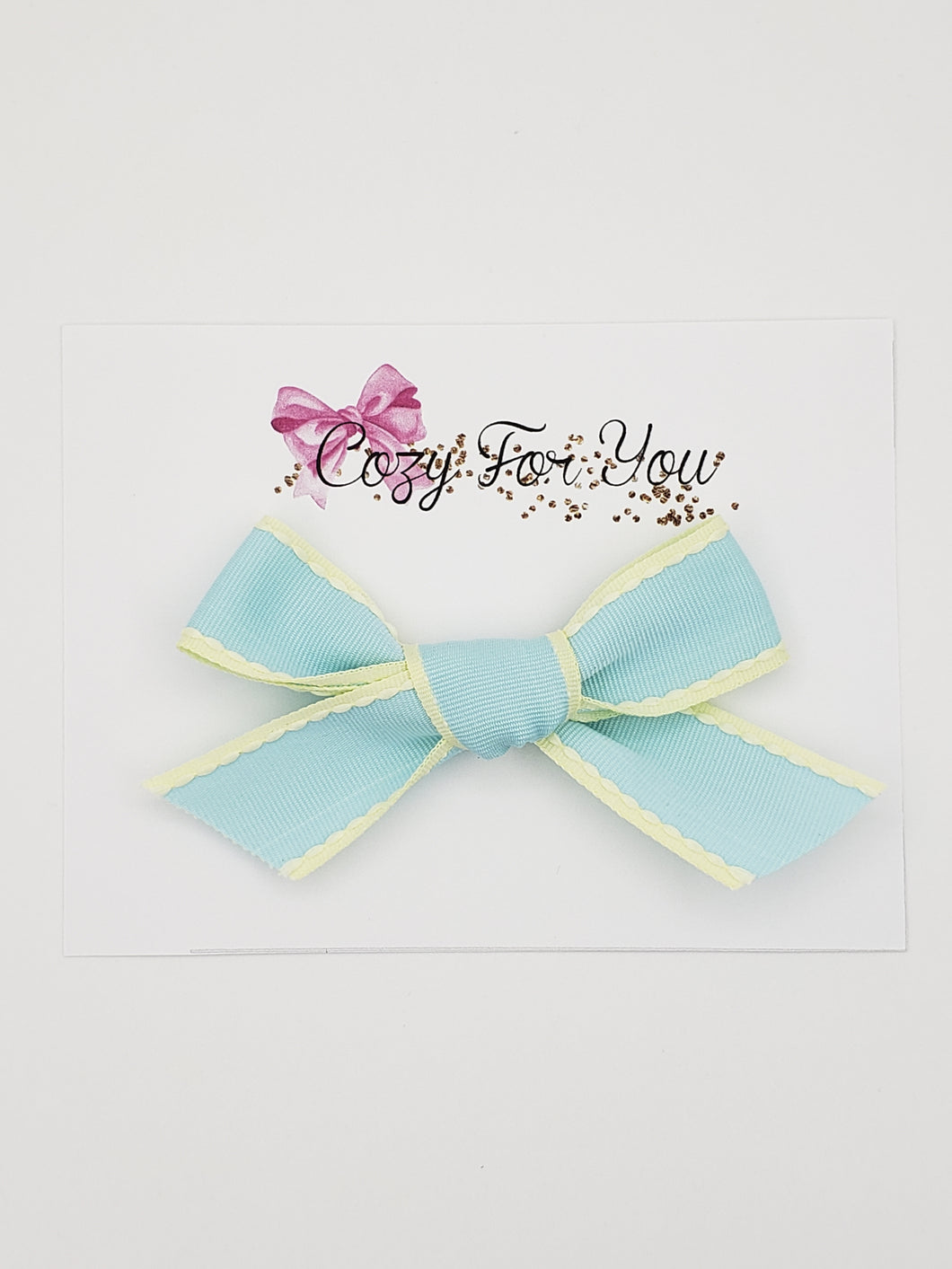Emmy- Aqua Ribbon Bow