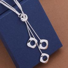 Elegant  Hollow Square Pendant Long Necklace