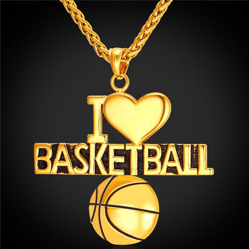 I Love Basketball Pendant
