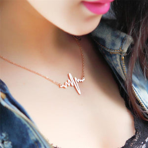 Heart Beat Pendant Necklace