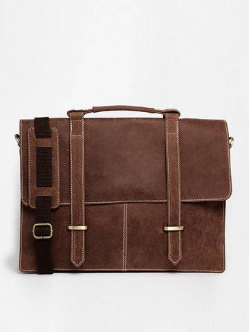 smart leather satchel