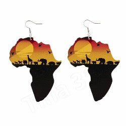 Exotic culture press-wood earrings - Oh So J Boutique