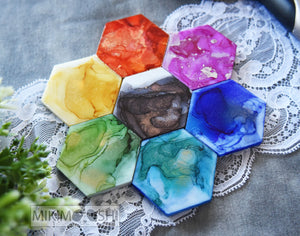 "SEWING PATTERN WEIGHTS - The A R T C O L L E C T I O N - 2"" HEXIES"