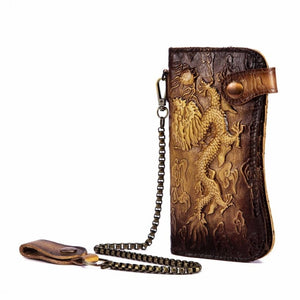Emboss Dragon Leather Wallet