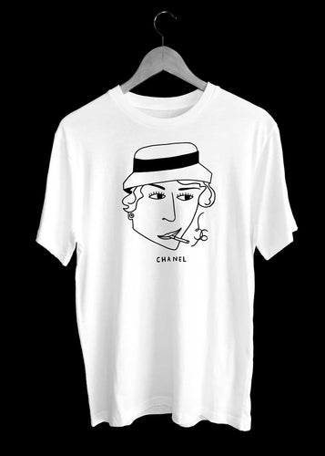 Coco CHANEL Illustration T-Shirt by TILONE