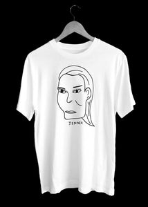 Kendall JENNER  Illustration T-Shirt by TILONE