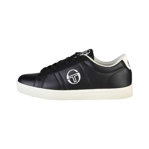 Gender: Men<br />Color: Black<br />low top lace-up sneakers<br />- synthetic leather upper<br />- cushioned insole fabric <br />- rubber sole<br />- inside:  fabric