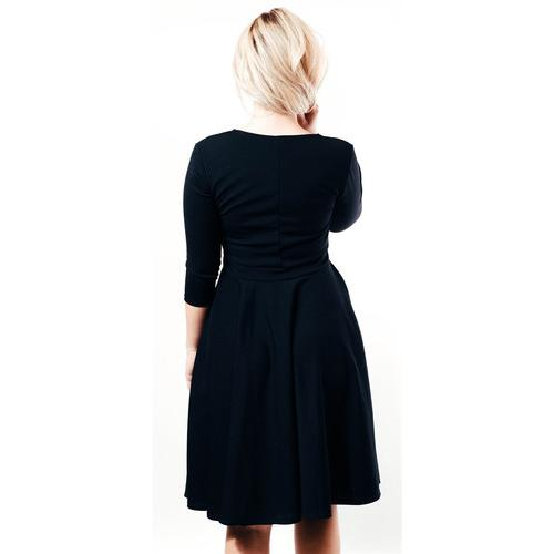 Structured Sweetheart Dress - Black - L