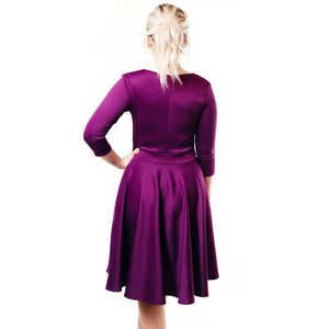 Structured Sweetheart Dress - Violet - XL