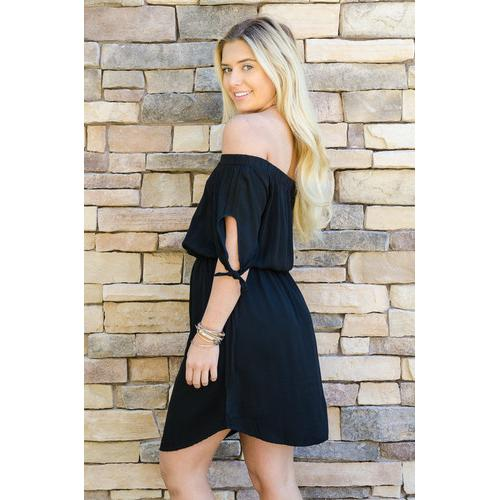 Summer Knee Length Dress - Black - S