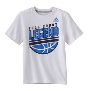 "Boys Size 6 adidas ""Full Court Legend"" Basketball Graphic Tee"