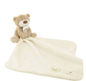 Baby Plush Security Blanket - Brown Bear & White Blankie