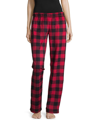 Fleece Pattern Pajama Pants - Buffalo Plaid