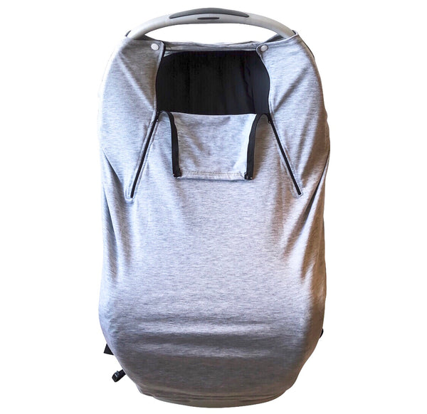 Maxwell Maxwell Brandt Stretchy Light Grey Unisex Universal Infant Car Seat Cover