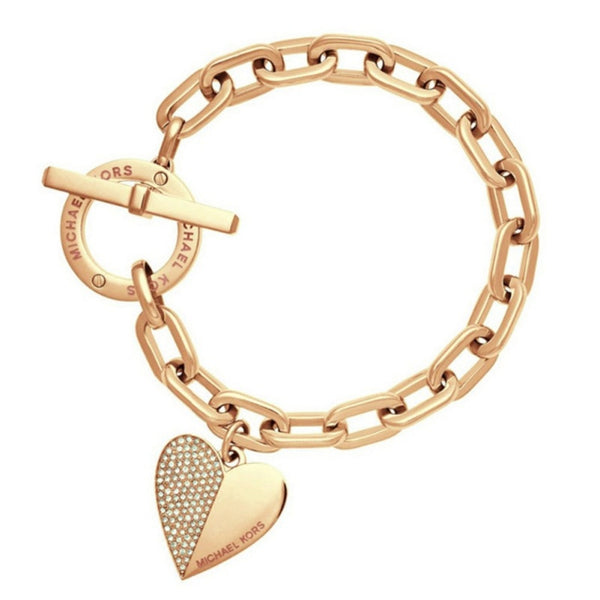 Heart Bracelet with Toggle Clasp