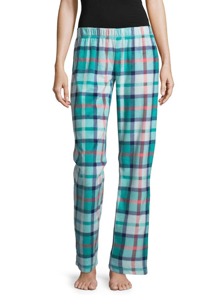 Fleece Pattern Pajama Pants - Plaid