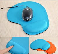 Soft & Comfortable Mouse Pad with Wrist Support - Light Blue