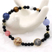 Natural Stones & Beads Stretch Bracelet