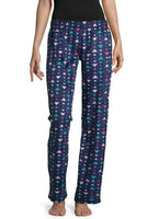 Fleece Pattern Pajama Pants - Triangles