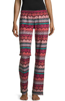 Fleece Pattern Pajama Pants - Fairisle Geo