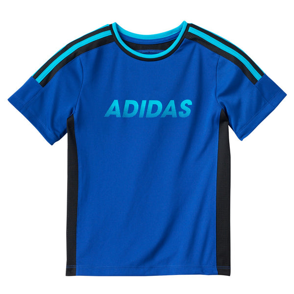adidas Boys Short Sleeve Crew Neck Shirt Size 5