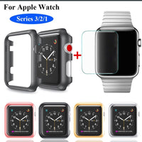 Apple Watch Protector Case 38mm with 9H Tempered Glass - Silver