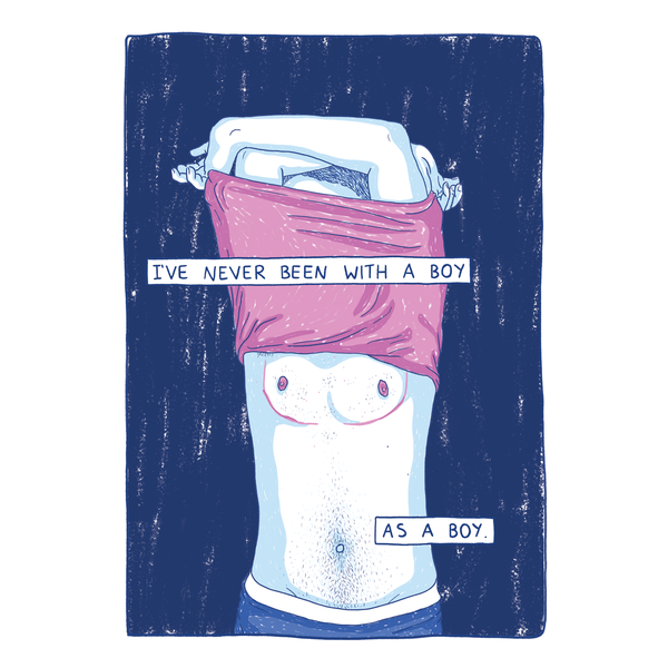 Gay Boy : Been With a Boy Print