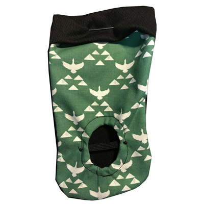 Get Your Joey Packing Pouch Green Birds - Ballsy - Sock Drawer Heroes | For the Trans & Gender Variant Community