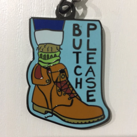 Butch Please Keychain - Sock Drawer Heroes | For the Trans & Gender Variant Community