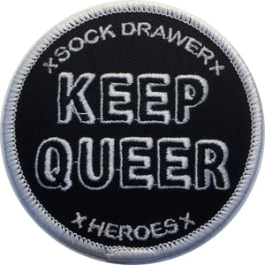 Keep Queer Patch - Sock Drawer Heroes | For the Trans & Gender Variant Community