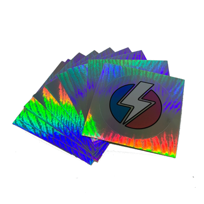 SDH Trans Bolt Holographic Sticker - Sock Drawer Heroes | For the Trans & Gender Variant Community