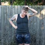 Underworks Sleeveless Compression Swim Top - Sock Drawer Heroes | For the Trans & Gender Variant Community