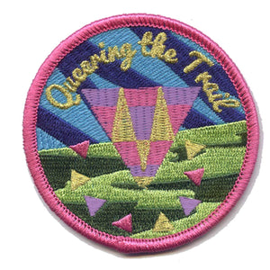 Queering the Trail Patch - Sock Drawer Heroes | For the Trans & Gender Variant Community