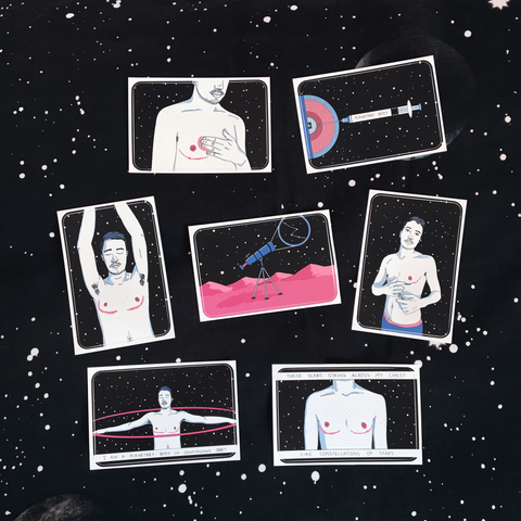 Body in Retrograde Sticker Pack - Sock Drawer Heroes | For the Trans & Gender Variant Community