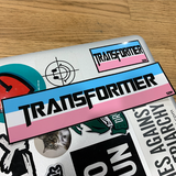 SDH Transformer Sticker Large - Sock Drawer Heroes | For the Trans & Gender Variant Community
