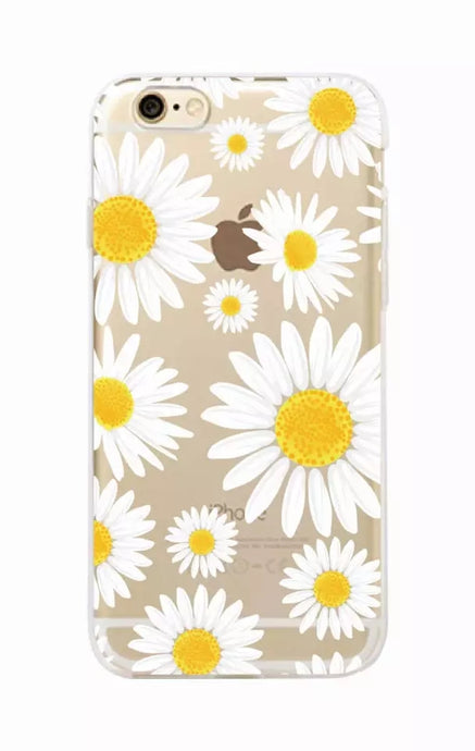 Cute Summer Daisy Flower Floral Flower Soft Clear Phone Case  Fundas Coque For iPhone 7 7Plus 6 6S 8 8PLUS X XS Max SAMSUNG