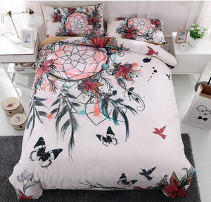 Dreamcatcher Bedding Set Feather Flower Boho 9 Different Designs