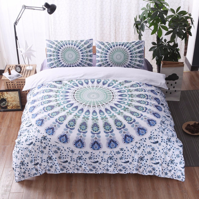 3Pcs Boho Mandala Bed Set 6 Different Designs