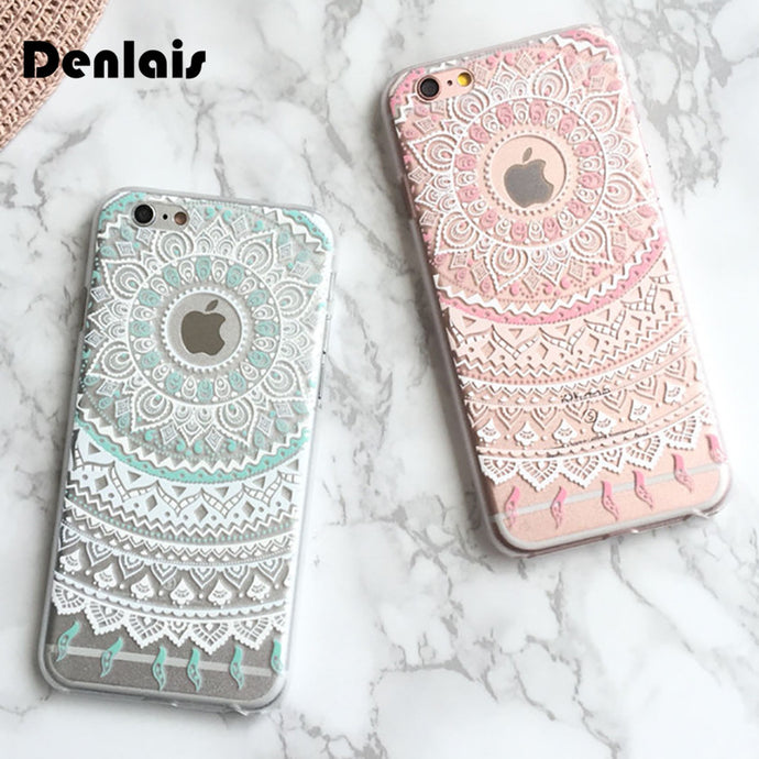 Retro Boho Vintage Mandala Phone cases for iphone 5, 5s,SE, 6, 6G, 6S, 6 plus, 7, 7plus, 8