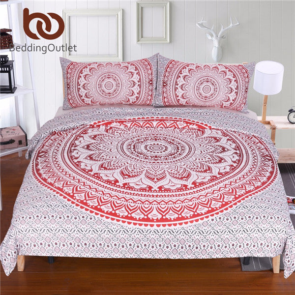 3Pcs Mandala Flower Soft Quilt Cover 5 Different Colours