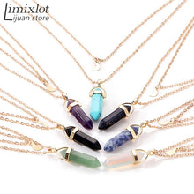 Double Layer Natural Stone Crystal Opal Chain Choker Quartz Necklace