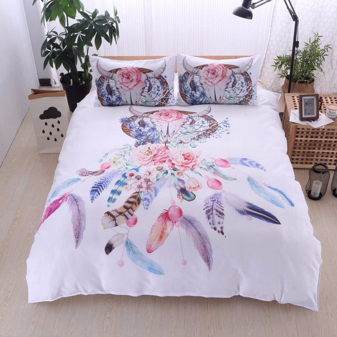 Feather Dreamcatcher Deer Bedding Sets Luxury Bed Set