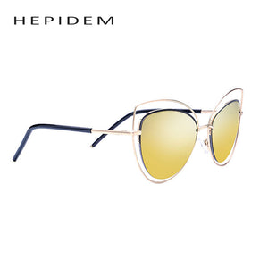 Hippie Cateye Sunglasses With Big Gold Frame