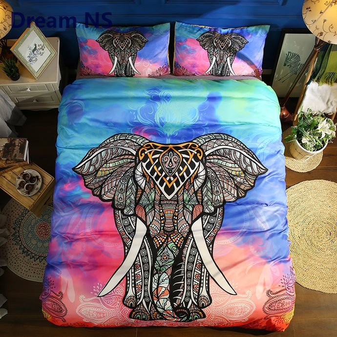 Elephant Bedding Set Quilt Cover