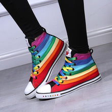 Rainbow Canvas Hippie Shoes