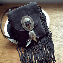 Small Boho Indian Chic Suede Beaded Bag