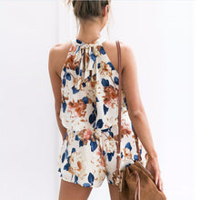 Floral Print Black And White Jumpsuit Women Romper