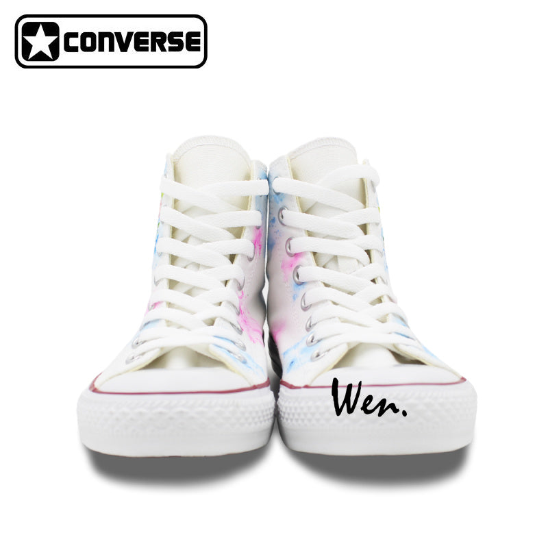 Flower And Skull Hand Painted Converse Shoes – Hippie Vibes 341317f78