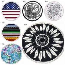Hippie Round Tapestry Beach Towel 6 Different Designs